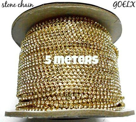 Am Stone Chain For Jewellery Making, Pack Of 5 Meters