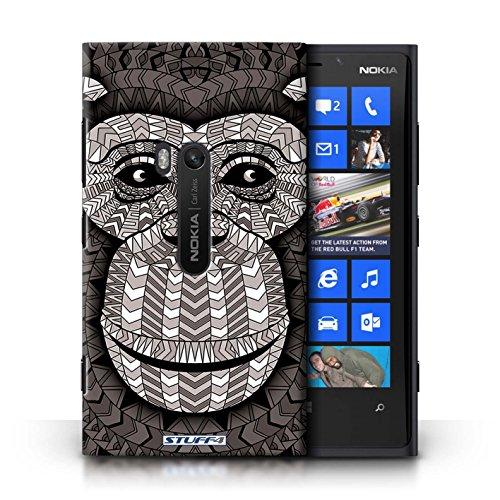 Coque en plastique pour Nokia Lumia 920 Collection Motif Animaux Aztec - Loup-Pourpre Singe-Mono