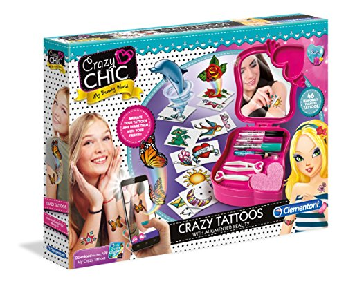 Clementoni 38.521,6cm crazy chic-tatuaggi creative kit