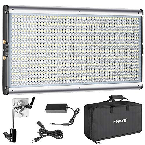 Neewer Dimmbare Bi-Farbe LED Kit, Professionelle Videoleuchte für Studio, YouTube Outdoor Video Fotografie Beleuchtung, Durable Metallrahmen, 960 LED Perlen, 3200-5600K, CRI 95+ -