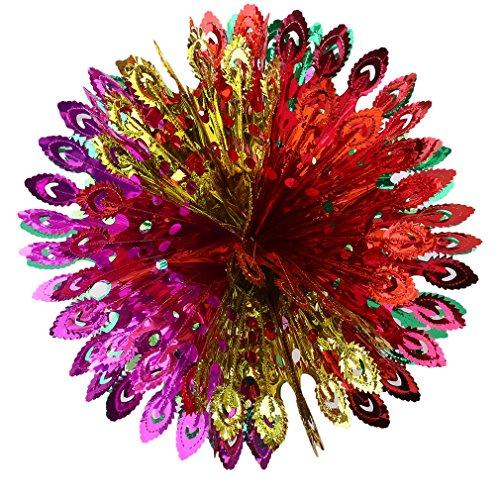 kemai Blumenkugel hängende Dekoration Weihnachten Decke Ziehen Blume Ball Blume Kugeln für Hochzeit Garten Party Outdoor Dekoration, Phoenix Tail Ball, 43 * 21cm