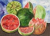 Berkin Arts Frida Kahlo Giclée Leinwand Prints Gemälde Poster Reproduktion(Viva la vida)