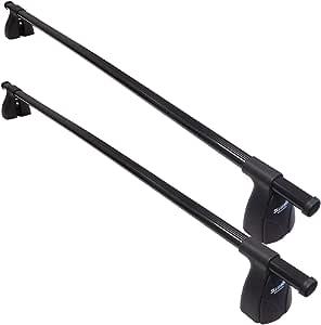 Summit Sup 012 Premium Multi Fit Dach Bars Schwarz Stahl Set Von 2 Auto