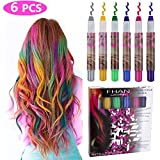 Philonext Hair Chalks Set - 6 bunte professionelle Wachs Haar