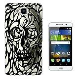 465 - Cool Fun Sugar Skull Design Huawei G7 pLUS 5.5''