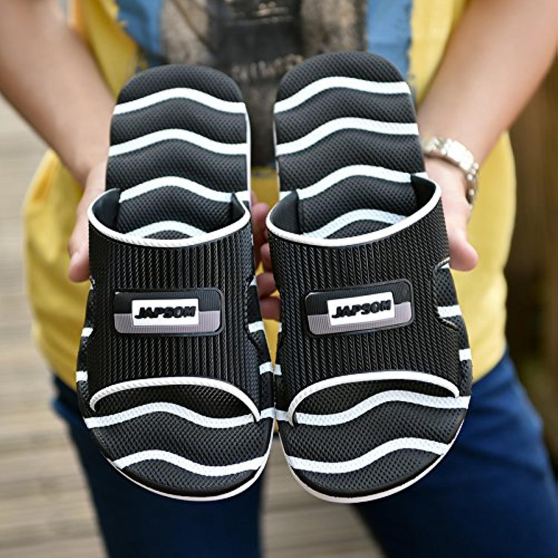 MONAcwe Flip Flops Sandalen Hausschuhe Herren Sommer atmungsaktiv täglichen Casual Herrenhaus rutschfeste Sandalen