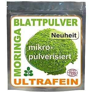 1kg Moringa Oleifera Blattpulver ULTRAFEIN, Premium ÖKO Rohkost (4x250g)