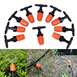 #6: 10Pcs Atomization Nozzle Water Control Sprayer DIY Micro Drip Irrigation Plant Self Garden Mist Sprinkler with Hose Connector