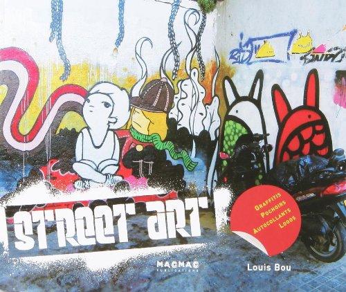 Street art : Graffitis pochoirs autocollants logos par Louis Bou