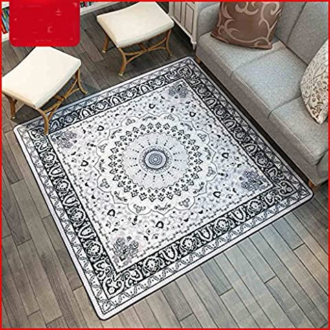 Longshien carpet Modern Living Room Simple Box Carpet 101 * 101cm Door mats ( Size : 150*150cm )