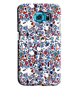Blue Throat Floral Vector Printed Designer Back Cover/Case For Samsung Galaxy S7 Edge