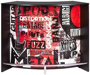 simmob snack134no451 bar comptoir panneau bois m lamin noir 55 3 x 134 5 x 104 8 cm. Black Bedroom Furniture Sets. Home Design Ideas