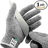 Twinzee Schnittschutz-Handschuhe (1 Paar) – Extra Starker Level 5 Schutz, EN-388 Zertifiziert, Lebensmittelecht – Hochwertig und Leicht, für alle Zwecke - Perfekte Passform (Large)