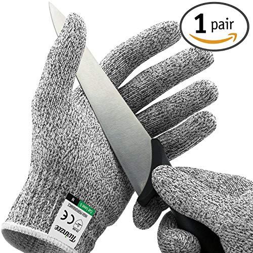 Twinzee® Schnittschutz-Handschuhe (1 Paar) – Extra Starker Level 5 Schutz, EN-388 Zertifiziert, Lebensmittelecht – Hochwertig und Leicht, für alle Zwecke - Perfekte Passform (Large)