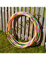 "FunkyBuys® 4pk Quality Adults Kids Stripy Multicolor Small Large Hula Hoops DIA:75cm (30"" Inches) Sporting Good Fitness"