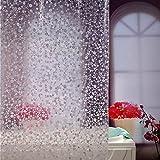 adwaita Premium–Cobblestone 100% EVA 3d de plástico no el moho transparente cortina de ducha Liner