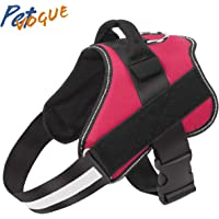 PetVogue Dog Harness, No-Pull Reflective Breathable Adjustable Pet Vest with Handle for Outdoor Walking - No More…