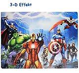 Toy - 3-D Effekt __ Unterlage -  the Avengers Assemble  - als Tischunterlage / Platzdeckchen / Malunterlage / Knetunterlage / Eßunterlage / Platzmatte - 42 cm * 29 cm - für Kinder & Erwachsene - Jungen / kleine Schreibunterlage - Platzset / Tischset - Initiative / Captain America SHIELD Superhelden - Iron Man - Thor / die Rächer - Action Held / Figur - Helden Ant-Man / Hulk - rutschhemmend
