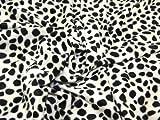 Stoff, Polyester-Velboa-Gewebe, Tierfell-Design 'Dalmatiner', 147,3 cm, Meterware