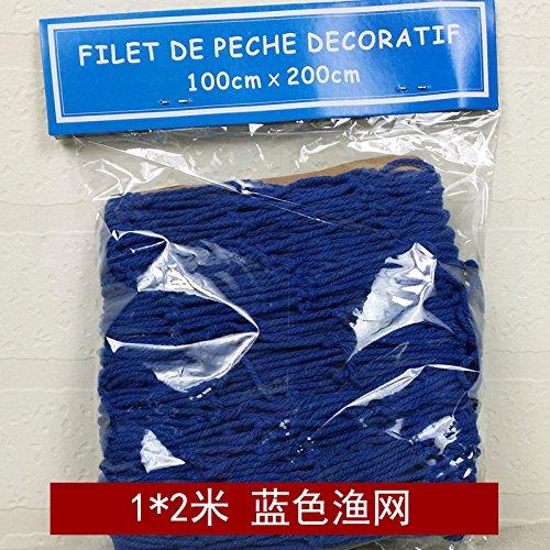 LangToo Die kreative mediterrane Fischernetz dekorative Wände wand Fisch net Dekoration Wand Wand Schmuck Schmuck mount, 1*2 Blau (Angel Regal Fisch)