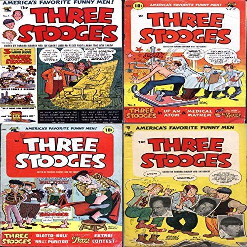 the-three-stooges-issues-1-5-6-and-7-americas-favorite-funny-men-features-alotta-bull-bogus-times-a-