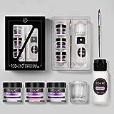 ROSALIND Acrylic Powder Set Dipping Sculpt Crystal Powder for Extension Acrylic Nail Kit (10g Set)