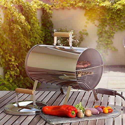 Tragbarer Elektro-Smoker Tischräucherofen Grill Räuchertonne Garten Camping 230V
