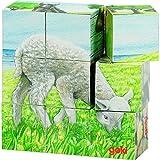 Goki 57607 - Würfelpuzzle - Bauernhoftiere