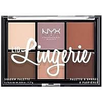 NYX Professional Makeup Lid Lingerie Palette Ombretti, Pigmenti Compatti, 6 Tonalità con Texture Cremosa Matte