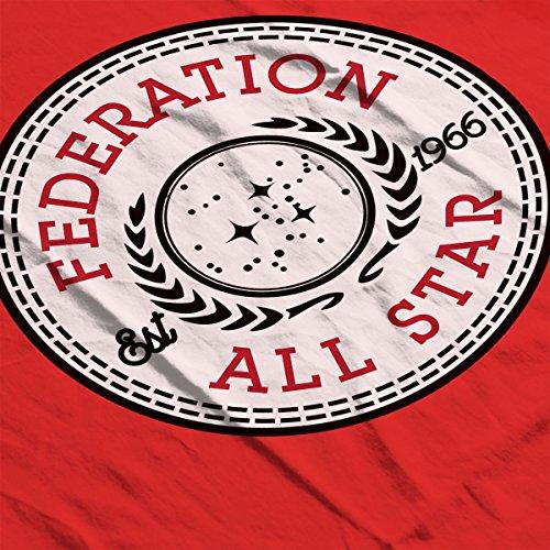 Star Trek Federation All Star Converse Logo Women's T-Shirt red