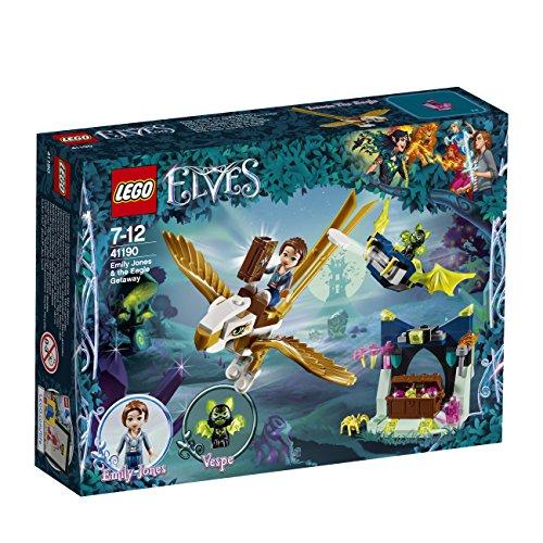 LEGO – 41190 – Elves – Jeu de Construction – Emily Jones et la Fuite de l'Aigle