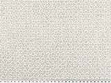 ab 1m: Baumwoll-Popeline, Blümchen, weiß, 142-145cm breit