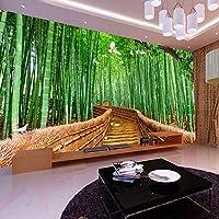Lqwx Tv Fondo Papel De Parede Papel De Pared Dormitorio Salón Bosque De Bambú Que Cubre La Pared Mural De Papel Tapiz Para Paredes 3 D-250Cmx175Cm