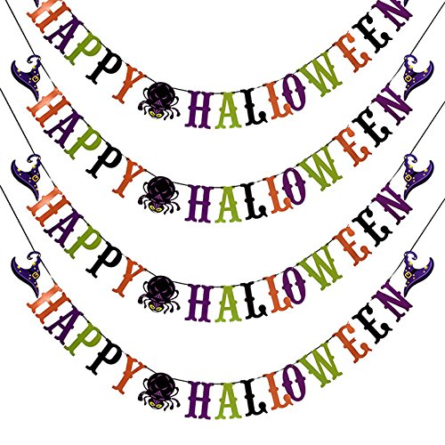 Demarkt 1 Pcs Halloween Papier Drapeau Drapeau Ghost Festival Bar Magasin Disposition Couleur décoration Fournitures (Style 5) 300cm Demarkt