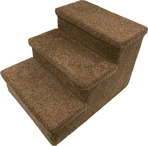 Penn-Plax 3 Step Carpeted Pet Stairs for Both Cats & Dogs, 12.75""