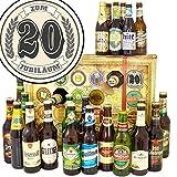 Zum 20. Jubiläum | Bier Adventskalender mit Bieren der Welt und Deutschland | 20 Jähriges Jubiläum Glückwunsch | GRATIS 6x Geschenk Karten, 3 Urkunden, Bierbewertungsbogen