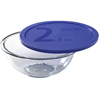 Pyrex Glass Mixing Bowl with Lid   2.4L, 1 pc, Transparent