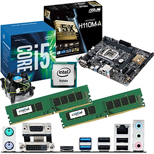 INTEL Skylake Core i5 6400 2.7Ghz, ASUS H110M-A Motherboard & 8GB 2133Mhz DDR4 Crucial RAM Bundle