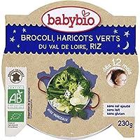 Babybio - Bonne nuit - Farandole de légumes verts et riz, dès 12 mois, certifié AB - L'assiette de 230g - Prix...