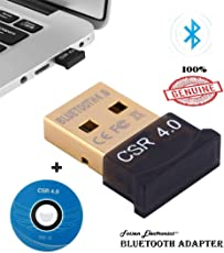 Fossen Wireless Mini USB Bluetooth Adapter CSR 4.0 with Driver CD- Bluetooth Dongle supports Desktop, Laptop (Windows 10 8 7 Vista XP 98 32/64 Bit); Connect with Mobile, Tablet, Headset and other Bluetooth-enabled device