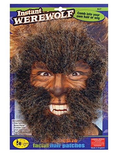 Bristol Novelty MD151 Werwolf Face Haar Kit, braun, one size