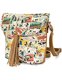 ililily Disney Mickey Mouse Cartoon Mini Tassel Shoulder Small Handbag
