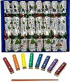 Ensemble de 8 chères notes de Noël Santa Craquelins de Noël en argent de Crackers Ltd (Cat F1)