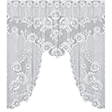 Jamicy Vintage Style Lace Coffee Vorhang, Küchenvorhang Vintage Style Fenster Schal (B)