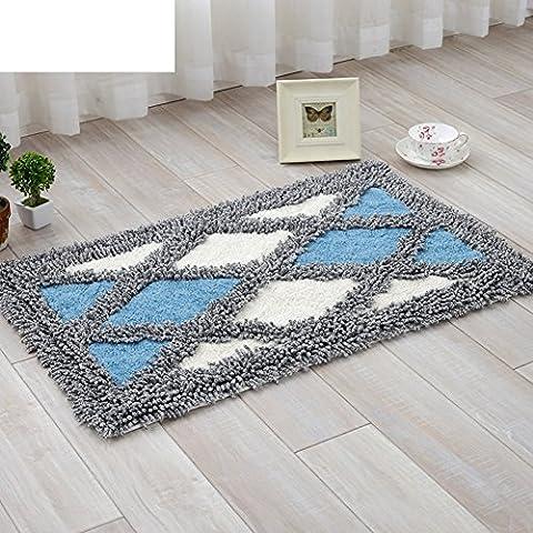 Nordic Diamant kontinentalen Matten Fußmatten Küche [Salon] Badezimmer Wasserabsorbierenden gepolsterte Antirutsch-Matten-E 50x80cm(20x31inch)