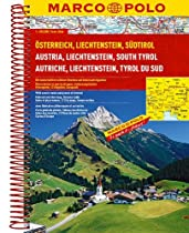 Austria/Liechtenstein/South Tyrol Marco Polo Road Atlas: 1:200 000/1:4.5 M (Marco Polo Road Atlases)