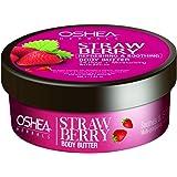 OSHEA Strawberry Body Butter, Pink, 200 g