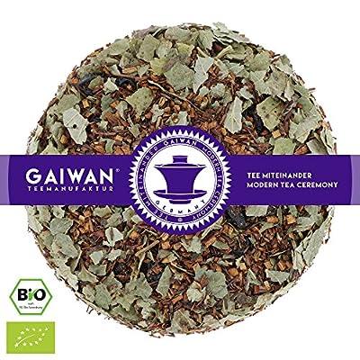"""N° 1279: Thé rooibos bio """"Groseille noir"""" - feuilles de thé issu de l'agriculture biologique - GAIWAN® GERMANY - rooibos, groseille rouge, groseilles noirs"""