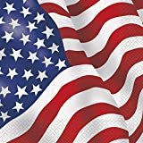 Unique Party Supplies Servietten, Motiv: USA-Flagge, 16Stück