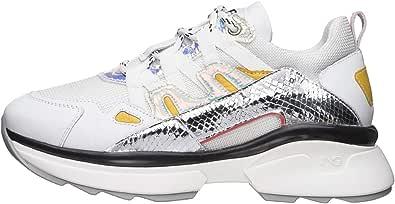 Nero Giardini E010799D Sneakers Donna in Pelle E Tela